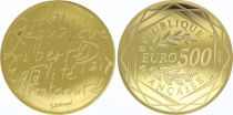 France 500 Euro Or - REPUBLIC  - 2014 - UNC - GOLD