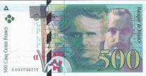 France 500 F Pierre et Marie Curie - 2000 D.044738717