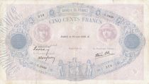 France 500 Francs - 29-06-1939 - Série G.3449 -  F to VF