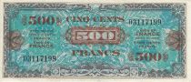 France 500 Francs Allied Military Currency - Without Serial 03117199