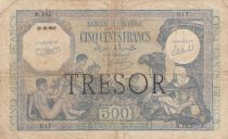 France 500 Francs Bank of Algeria overprint TRESOR - 1943