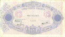France 500 Francs Blue and pink - 16/06/1938 Série B2973