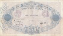France 500 Francs Blue and pink - 19-01-1939 Serial A.3169