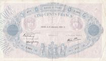 France 500 Francs Blue and pink - 21-12-1939 Série Z.3901