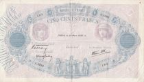 France 500 Francs Blue and pink - 23-03-1939 Serial S.3282