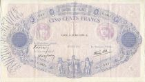 France 500 Francs Blue and pink - 25/05/1939 Serial C3415