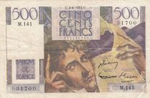 France 500 Francs Chateaubriand - 04-06-1953 Serial M.141