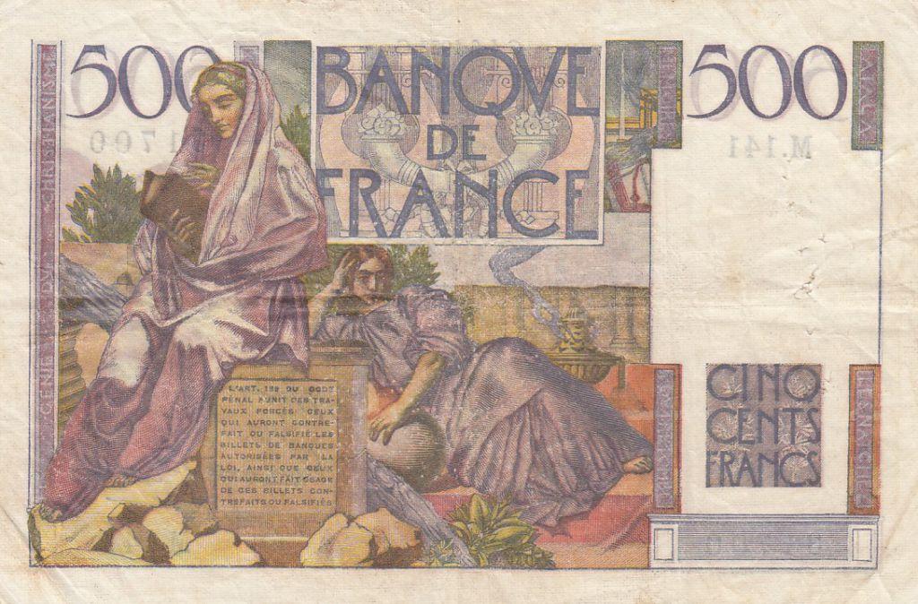 France 500 Francs Chateaubriand - 04-06-1953 Série M.141