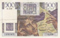 France 500 Francs Chateaubriand - 04-06-1953 Série R.139