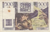 France 500 Francs Chateaubriand - 07-02-1946 Serial T.64 - aVF - P.129