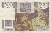 France 500 Francs Chateaubriand - 07-11-1945 Serial H.42 - VF - P.129