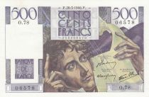 France 500 Francs Chateaubriand - 28-03-1946 Serial O.78