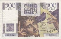 France 500 Francs Chateaubriand - 28-03-1946 Serial V.84