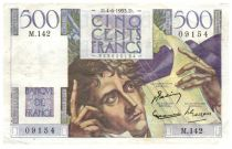France 500 Francs Chateaubriand 04-06-1953 - Serial M.142 - VF