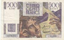 France 500 Francs Chateaubriand 04-06-1953 - Série E.142 - TTB