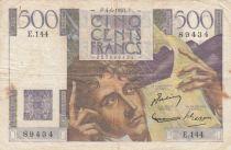 France 500 Francs Chateaubriand 04-06-1953 - Série E.144 - p.TTB