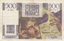France 500 Francs Chateaubriand 04-06-1953 - Série Z.143 - TTB