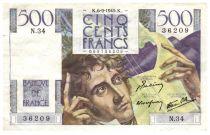 France 500 Francs Chateaubriand 06-09-1945- Série N.34 - TTB