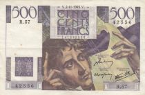 France 500 Francs Chateaubriand 07-11-1945 - Serial R.57 - VF + - P. 129