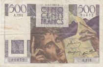 France 500 Francs Chateaubriand 09-01-1947 - Serial A.101 - F + - P. 129