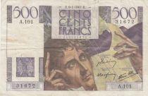 France 500 Francs Chateaubriand 09-01-1947 - Série A.101 - TB+