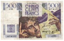 France 500 Francs Chateaubriand 12-09-1946- Serial J.88 - F+