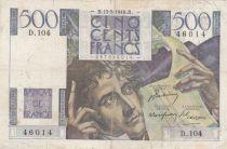 France 500 Francs Chateaubriand 13-05-1948 - Série D.104 - TB