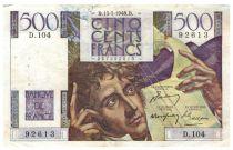 France 500 Francs Chateaubriand 13-05-1948- Série D.104 - TB+