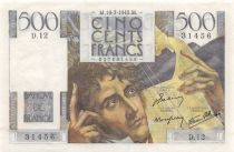 France 500 Francs Chateaubriand 19-07-1945 - Serial D.12 - XF+