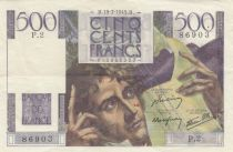 France 500 Francs Chateaubriand 19-07-1945 - Serial P.2 - VF to XF