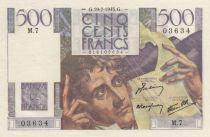 France 500 Francs Chateaubriand 19-07-1945 - Série M.7 - SUP+