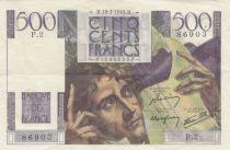 France 500 Francs Chateaubriand 19-07-1945 - Série P.2 - TTB+