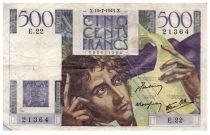 France 500 Francs Chateaubriand 19-07-1945- Série E.22 - PTB