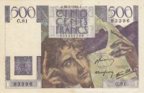 France 500 Francs Chateaubriand 28-03-1946 - Serial C.81 - VF + - P. 129