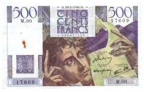 France 500 Francs Chateaubriand 28-03-1946 - Serial M.80 - VF+