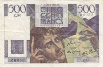 France 500 Francs Chateaubriand 28-03-1946 - Serial Z.80 - VF + - P. 129