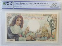 France 500 Francs Colbert - ND (1943) - Epreuve Specimen - PCGS 67 OPQ