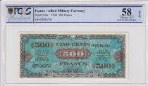 France 500 Francs Impr. américaine (Drapeau) -  Sans Série - PCGS AU 58 OPQ