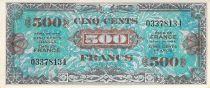 France 500 Francs Impr. américaine (drapeau) - 1944 - Sans série - SUP