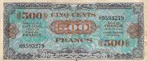 France 500 Francs Impr. américaine (Drapeau) - 1944 - Sans Série - TTB