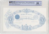 France 500 Francs Indices noirs - Epreuve noire type 1863 (1868) - PCGS 66 OPQ