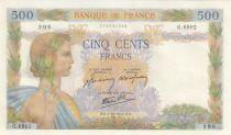 France 500 Francs La Paix - 01-10-1942 Série G.6902 - 2ème ex