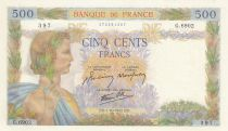 France 500 Francs La Paix - 01-10-1942 Série G.6902