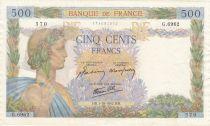 France 500 Francs La Paix - 01-10-1942 Série G.6962