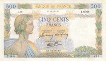 France 500 Francs La Paix - 01-10-1942 Série T.6964 - TTB