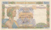 France 500 Francs La Paix - 01-10-1942 Série Y.6967