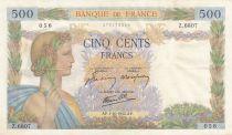 France 500 Francs La Paix - 01-10-1942 Série Z.6807