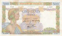 France 500 Francs La Paix - 02-01-1942 Série A.4297