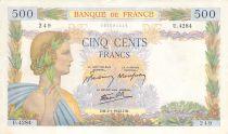 France 500 Francs La Paix - 02-01-1942 Série U.4284 - TTB+