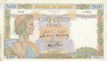 France 500 Francs La Paix - 02-04-1942 Série J.5225